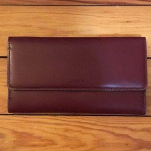 🆕 Lodis Italian Leather Wallet. Audrey Clutch.